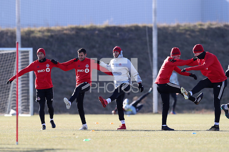 Toronto, Ontario - Wednesday December 06, 2017: Toronto FC held a training session and media mixed zone at Kia Training Ground three days before playing in MLS Cup 2017.