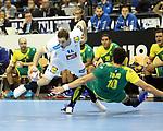 11.01.2019, Mercedes Benz Arena, Berlin, GER, BRA vs. FRA, im Bild <br /> Jose Toledo (BRA #10), Kentin Mahe (FRA #14)<br /> <br />      <br /> Foto &copy; nordphoto / Engler