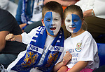 St Johnstone v Rosenborg....25.07.13  Europa League Qualifier<br /> Young saints fans Cadyn Pettie (9) and sister Kelsey<br /> Picture by Graeme Hart.<br /> Copyright Perthshire Picture Agency<br /> Tel: 01738 623350  Mobile: 07990 594431