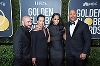 Dwayne Johnson (R) with his daughter Simone Alexandra Johnson and guests on the red carpet of the 75th Annual Golden Globes Awards at the Beverly Hilton in Beverly Hills, CA on Sunday, January 7, 2018.<br /> *Editorial Use Only*<br /> CAP/PLF/HFPA<br /> &copy;HFPA/PLF/Capital Pictures