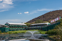 The 18th Green during the 2nd round at the Nedbank Golf Challenge hosted by Gary Player,  Gary Player country Club, Sun City, Rustenburg, South Africa. 09/11/2018 <br /> Picture: Golffile | Tyrone Winfield<br /> <br /> <br /> All photo usage must carry mandatory copyright credit (&copy; Golffile | Tyrone Winfield)
