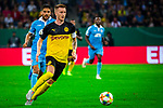 09.08.2019, Merkur Spiel-Arena, Düsseldorf, GER, DFB Pokal, 1. Hauptrunde, KFC Uerdingen vs Borussia Dortmund , DFB REGULATIONS PROHIBIT ANY USE OF PHOTOGRAPHS AS IMAGE SEQUENCES AND/OR QUASI-VIDEO<br /> <br /> im Bild | picture shows:<br /> Marco Reus (Borussia Dortmund #11) am Ball, <br /> <br /> Foto © nordphoto / Rauch