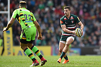 Jonny May of Leicester Tigers in possession. Aviva Premiership match, between Leicester Tigers and Northampton Saints on April 14, 2018 at Welford Road in Leicester, England. Photo by: Patrick Khachfe / JMP