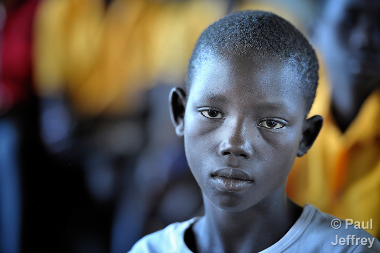 A student in class in a United Methodist primary school in Yei, Southern Sudan. NOTE: In July 2011 Southern Sudan became the independent country of South Sudan.