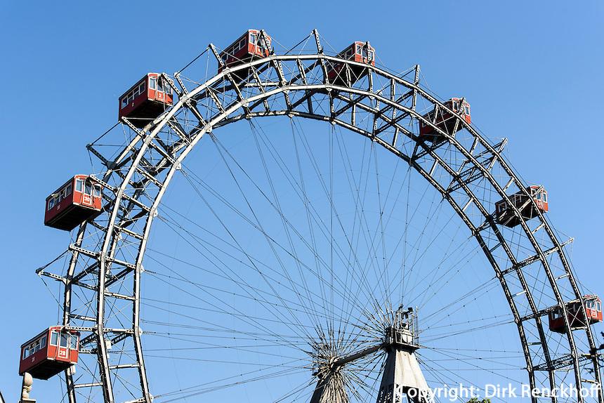 Riesenrad im Vergn&uuml;gungspark Prater, Wien, &Ouml;sterreich<br /> Giant wheel at amusementpark Prater, Vienna, Austria