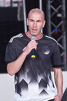 Zinedine Zidane during the presentation of the new Adidas football boots