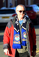 Blackburn Rovers fans make their way to the stadium<br /> <br /> Photographer Richard Martin-Roberts/CameraSport<br /> <br /> The EFL Sky Bet Championship - Blackburn Rovers v West Bromwich Albion - Tuesday 1st January 2019 - Ewood Park - Blackburn<br /> <br /> World Copyright &not;&copy; 2019 CameraSport. All rights reserved. 43 Linden Ave. Countesthorpe. Leicester. England. LE8 5PG - Tel: +44 (0) 116 277 4147 - admin@camerasport.com - www.camerasport.com