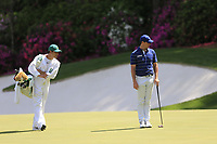 Rory McIlroy (NIR) on the 13th green during the 1st round at the The Masters , Augusta National, Augusta, Georgia, USA. 11/04/2019.<br /> Picture Fran Caffrey / Golffile.ie<br /> <br /> All photo usage must carry mandatory copyright credit (© Golffile | Fran Caffrey)