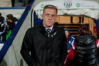 WEST BROMWICH, ENGLAND - FEBRUARY 11:  Garry Monk, Manager of Swansea City prior to  the Premier League match between West Bromwich Albion and Swansea City at The Hawthorns on February 11, 2015 in West Bromwich, England. (Photo by Athena Pictures/Getty Images)