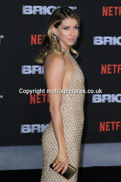 NON EXCLUSIVE PICTURE: MATRIXPICTURES.CO.UK<br /> PLEASE CREDIT ALL USES<br /> <br /> WORLD RIGHTS<br /> <br /> Dawn Olivieri attending the UK premiere of Netflix's 'Bright', held on London's Southbank.<br /> <br /> DECEMBER 15th 2017<br /> <br /> REF: MES 172875