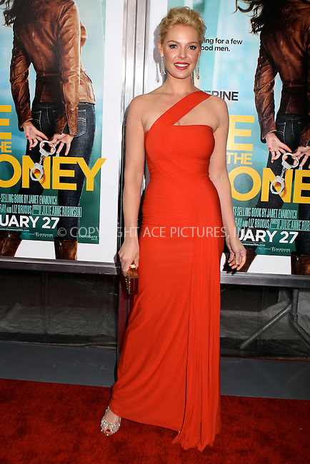 WWW.ACEPIXS.COM . . . . .  ....January 24 2012, New York City....Actress Katherine Heigl arriving at the premiere of 'One for the Money' at the AMC Loews Lincoln Square on January 24 2012 in New York City....Please byline: NANCY RIVERA- ACEPIXS.COM.... *** ***..Ace Pictures, Inc:  ..Tel: 646 769 0430..e-mail: info@acepixs.com..web: http://www.acepixs.com