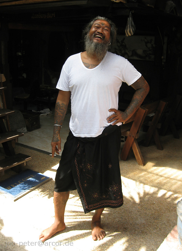painter Kan Kulak in his atelier, Bali, archipelago Indonesia