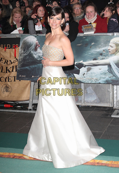 ONDON, ENGLAND - DECEMBER 01: Evangeline Lilly attends the &quot;The Hobbit: The Battle of the Five Armies&quot; world film premiere, Odeon Leicester Square cinema, Leicester Square, on Monday December 01, 2014 in London, England, UK.<br /> CAP/ROS<br /> &copy;Steve Ross/Capital Pictures