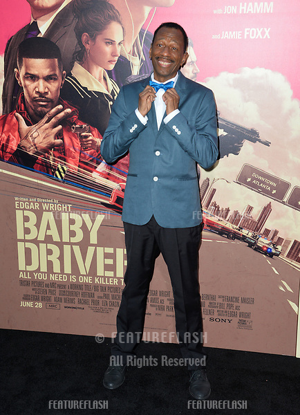 C.J. Jones at the Los Angeles premiere for &quot;Baby Driver&quot; at the Ace Hotel Downtown. <br /> Los Angeles, USA 14 June  2017<br /> Picture: Paul Smith/Featureflash/SilverHub 0208 004 5359 sales@silverhubmedia.com