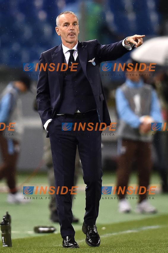 Stefano Pioli Lazio <br /> Roma 01-10-2015 Stadio Olimpico Football Calcio Europa League Lazio - Saint Etienne Foto Andrea Staccioli / Insidefoto