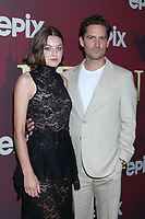 "LOS ANGELES - JUL 24:  Emma Corrin, Ben Aldridge at the ""Pennyworth"" Premiere at the Harmony Gold Theater on July 24, 2019 in Los Angeles, CA"