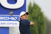 Felipe Aguilar (CHI) tees off the 16th tee during Saturday's Round 3 of the Porsche European Open 2018 held at Green Eagle Golf Courses, Hamburg Germany. 28th July 2018.<br /> Picture: Eoin Clarke | Golffile<br /> <br /> <br /> All photos usage must carry mandatory copyright credit (&copy; Golffile | Eoin Clarke)