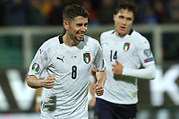 Italy's Jorginho celebrates after scoring the 5-0 goal on penalty kick<br /> Palermo 18-11-2019 Stadio Renzo Barbera <br /> UEFA European Championship 2020 qualifier group J <br /> Italy - Armenia <br /> Photo Carmelo Imbesi / Insidefoto