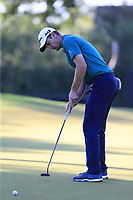 Justin Rose (ENG) putts on the 17th green during Saturday's Round 3 of the 2018 Turkish Airlines Open hosted by Regnum Carya Golf &amp; Spa Resort, Antalya, Turkey. 3rd November 2018.<br /> Picture: Eoin Clarke | Golffile<br /> <br /> <br /> All photos usage must carry mandatory copyright credit (&copy; Golffile | Eoin Clarke)