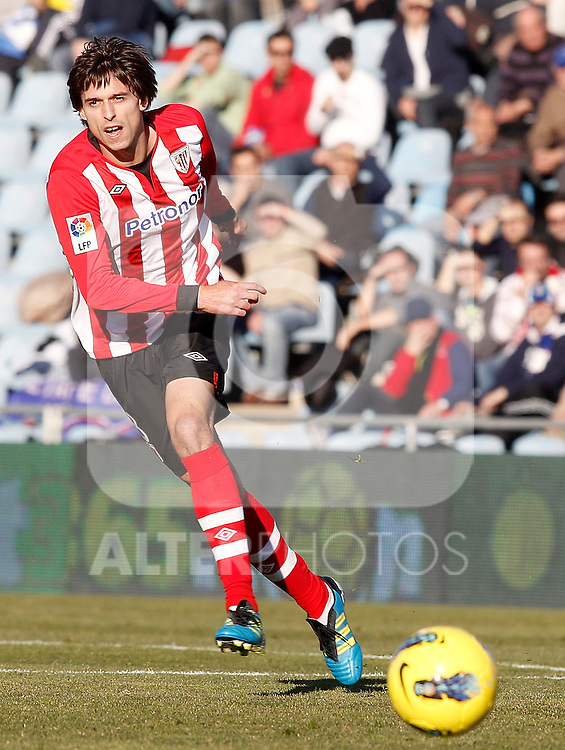 Athletic de Bilbao's Ander Iturraspe during La Liga Match. January 08, 2012. (ALTERPHOTOS/Alvaro Hernandez)