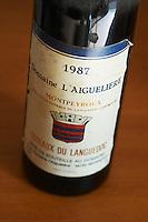 Aigueliere 1987. Domaine l'Aigueliere. Montpeyroux. Languedoc. France. Europe. Bottle.