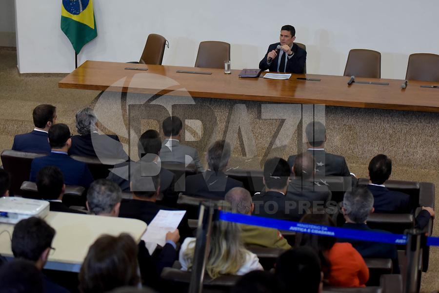 Brasilia, DF, 04.02.2019  – O ministro Sérgio Moro durante reunião com governadores no Palácio da Justiça em Brasília, na manhã desta segunda-feira, 04. (Foto: Ricardo Botelho/Brazil Photo Press/Agencia O Globo)Politica