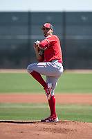 Cincinnati Reds relief pitcher Jose Lopez (74) during a Minor League Spring Training game against the Chicago White Sox at the Cincinnati Reds Training Complex on March 28, 2018 in Goodyear, Arizona. (Zachary Lucy/Four Seam Images)
