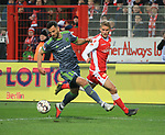 08.03.2019, Stadion an der Wuhlheide, Berlin, GER, 2.FBL, 1.FC UNION BERLIN  VS. FC Ingolstadt 04, <br /> DFL  regulations prohibit any use of photographs as image sequences and/or quasi-video<br /> im Bild Sebastian Andersson (1.FC Union Berlin #10), Mergim Mavraj (FC Ingolstadt #15)<br /> <br /> <br />      <br /> Foto &copy; nordphoto / Engler