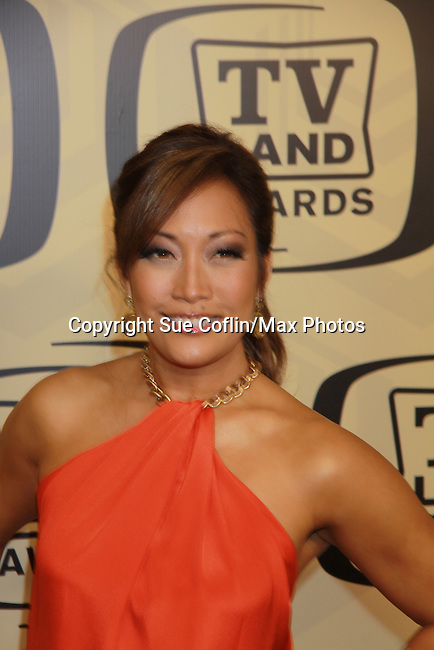 """Carrie Ann Inaba (In Living Color & Dancing with The Stars) at the 10th Anniversary of the TV Land Awards on April 14, 2012 to honor shows """"Murphy Brown"""", """"Laverne & Shirley"""", """"Pee-Wee's Playhouse"""", """"In Loving Color"""" and """"One Day At A Time"""" and Aretha Franklin at the Lexington Armory, New York City, New York. (Photo by Sue Coflin/Max Photos)"""