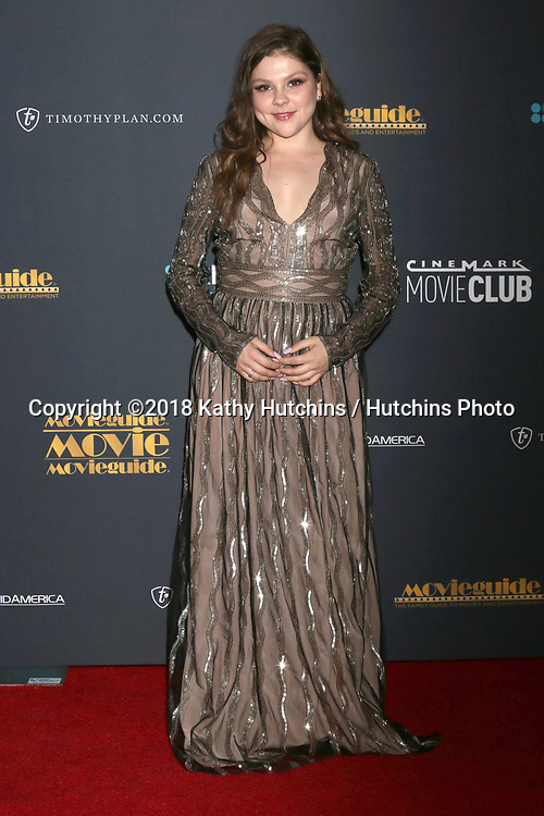 LOS ANGELES - FEB 2:  Hannah Zeile at the 26th MovieGuide Awards at the Universal Hilton Hotel on February 2, 2018 in Universal City, CA