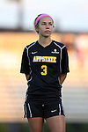 17 September 2015: Appalachian State's Jenni Loveless. The Duke University Blue Devils hosted the Appalachian State University Mountaineers at Koskinen Stadium in Durham, NC in a 2015 NCAA Division I Women's Soccer match. Duke won the game 6-0.