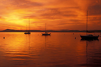 sunrise, Vermont, VT, South Hero, [Sunrise, sunset] over Appletree Marina on Lake Champlain.