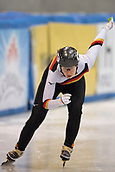 1st February 2019, Dresden, Saxony, Germany; World Short Track Speed Skating; 500 meters women in the EnergieVerbund Arena. Anna Katharina G䲴ner from Germany on the track.