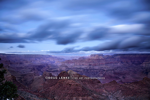 The Grand Canyon In Pre Dawn Light, Grand Canyon National Park, Arizona, East Rim View