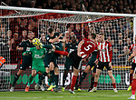 Newcastle block a Jack O'Connell of Sheffield Utd goal bound effort during the Premier League match at Bramall Lane, Sheffield. Picture date: 5th December 2019. Picture credit should read: Simon Bellis/Sportimage