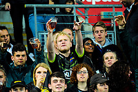 Fans in the grandstand during the Super Rugby match between the Hurricanes and Highlanders at Westpac Stadium in Wellington, New Zealand on Friday, 1 March 2019. Photo: Dave Lintott / lintottphoto.co.nz
