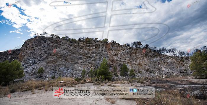 Incendio forestal en Gatova que afecta a Gatova, Altura y Segorbe.<br /> <br /> Wildfire in Gatova that affects Gatova, Altura and Segorbe.<br /> <br /> Jul 1, 2017.<br /> Segorbe, Castellon - Spain.