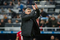 Man Utd manager Ole Gunnar Solskjaer at full time during the Premier League match between Newcastle United and Manchester United at St. James's Park, Newcastle, England on 6 October 2019. Photo by J GILL / PRiME Media Images.