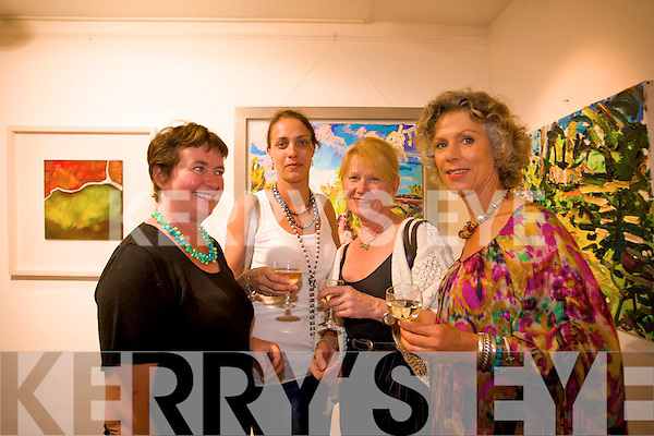At the opening of the Purcell Art Gallery on Main Street, Kenmare are L-R Proprietor, Rosemary Purcell, Sarah O'Rourke, Helena Korpela and Charlotte Verbeek