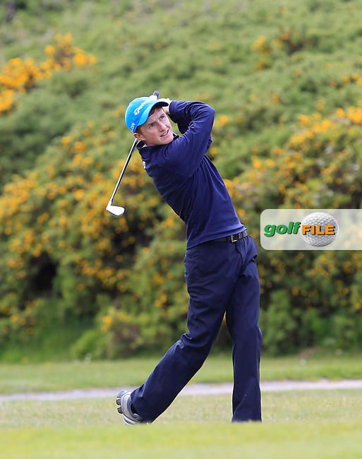 Ronan Mullarney (Galway) on the 15th fairway during the Final of the Connacht Barton Shield at Galway Golf Club on Sunday 7th June 2015.<br /> Picture:  Thos Caffrey / www.golffile.ie