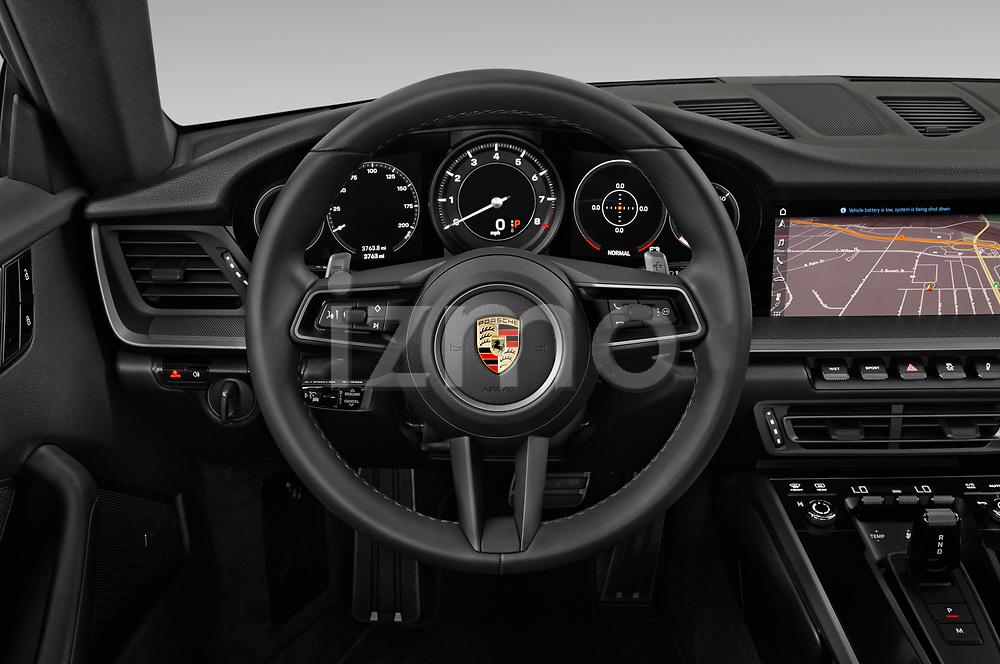 Car pictures of steering wheel view of a 2020 Porsche 911 Carrera S 2 Door Coupe