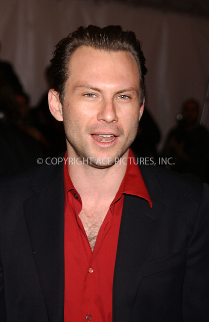 Christain Slater at the The Costume Institute Gala Celebrating Chanel, at the Metropolitan Museum of Art. New York City, May 2 2005.....Please byline: KRISTIN CALLAHAN - Ace Pictures....*PAY-PER-USE*....IMPORTANT: Please note that our old trade name New York Photo Press has changed to ACE Pictures. New York Photo Press and ACE Pictures are both owned by All Celebrity Entertainment, Inc.....Ace Pictures, Inc...e-mail: info@acepixs.com..tel: 212 243 8787