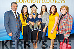 Emma Lowham from tralee holding her twin nephews Avery and Tyler as she graduates from I T Tralee on Friday. <br /> L to r: Gary Lowham, Natasha Hogan, Sophie and Annette Lowham and Jill O'Connor.