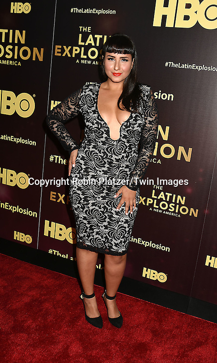 Rebecca Torres attends the HBO premiere of &quot;The Latin Explosion: A New America&quot; on November 10, 2015 at the Hudson Theater in New York City, New York, USA.<br /> <br /> photo by Robin Platzer/Twin Images<br />  <br /> phone number 212-935-0770