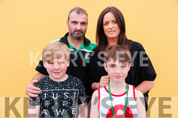 Cashen Vale Boxing Tournament: Attending the  Cashen Vale Boxing tournament at Tomasin's Bar, Liselton on Saturday night last were in front Willie O'Sullivan & Cody Goggin. Back : Tony & Collette Goggin all from Ballyheigue boxing club.