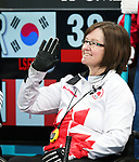 Pyeongchang, Korea, 17/3/2018-Marie Wright competes in the bronze medal game of wheelchair curling during the 2018 Paralympic Games. Photo: Scott Grant/Canadian Paralympic Committee.