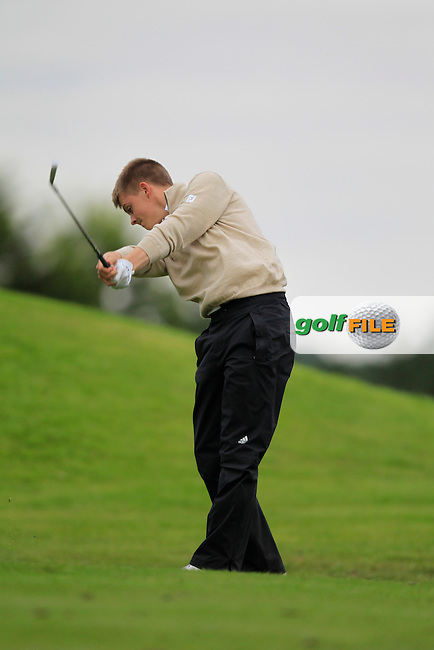 Alec Myles (Newlands) on the 10th tee during Day 1of the Irish Youths Amateur Close Championship at Claremorris Golf Club on Wednesday 28th August 2013 <br /> Picture:  Thos Caffrey/ www.golffile.ie