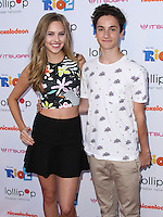 "BURBANK, CA, USA - APRIL 26: Ella Wahlestedt, Teo Halm at the Lollipop Theater Network's Night Under The Stars Screening Of Twentieth Century Fox's ""Rio 2"" Hosted by Anne Hathaway held at Nickelodeon Animation Studios on April 26, 2014 in Burbank, California, United States. (Photo by Xavier Collin/Celebrity Monitor)"