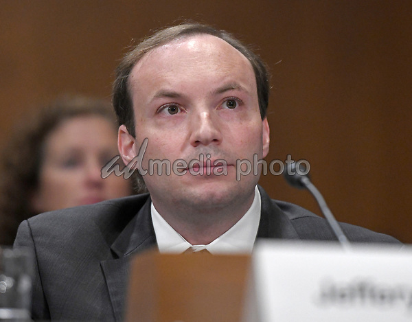 Jeffery Baran appears before the United States Senate Committee on Environment and Public Works to testify on his reappointment as a member of the Nuclear Regulatory Commission (NRC)  on Capitol Hill in Washington, DC on Wednesday, October 4, 2017. Photo Credit: Ron Sachs/CNP/AdMedia