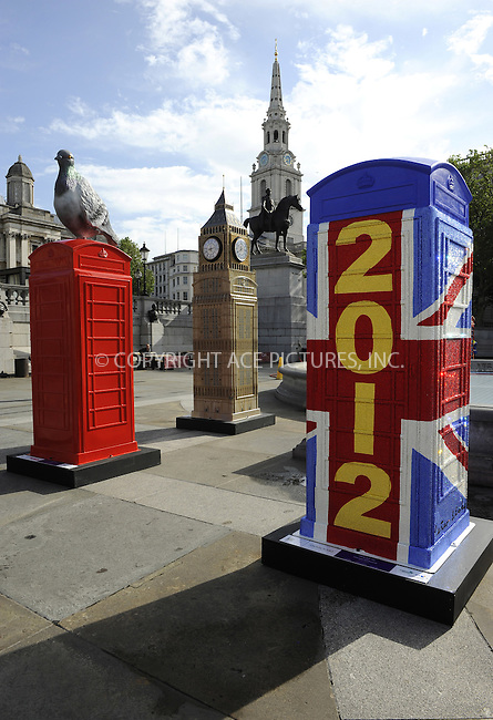 WWW.ACEPIXS.COM . . . . .  ..... . . . . US SALES ONLY . . . . .....June 15 2012, London....British Telecom Phoneboxes on display in Trafalgar Square to celebrate the launch of the BT ArtBoxes designed by leading British and international artists and creatives at Trafalgar Hotel on June 15, 2012 in London, England.....Please byline: FAMOUS-ACE PICTURES... . . . .  ....Ace Pictures, Inc:  ..Tel: (212) 243-8787..e-mail: info@acepixs.com..web: http://www.acepixs.com